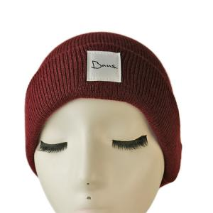 China Popular high quality customized logo and color blank winter knitted  hats caps on sale