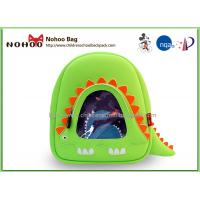 Green Neoprene Mini Children School Bags Easy Clean With Zoo Animal