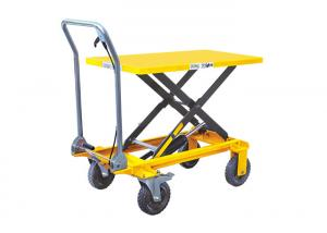China Hydraulic Scissor Lift Table With Foot Pedal Easy Operation CE Certification on sale