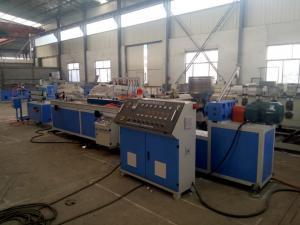 China Plastic PE WPC Profile Extrusion Machine / PVC Profile Production Line on sale