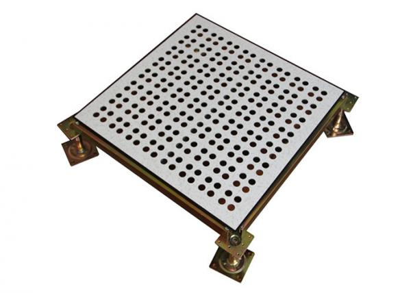 Fireproof Data Center Perforated Raised Floor Tiles With Welded Tube