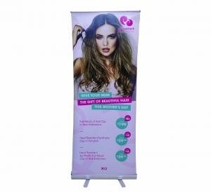 China Digital Printing Retractable Roll Up Banner For Hair Extension Promotion on sale