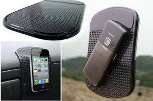 China Eco-friendly PU Gel mobile phone dashboard anti slip mat Apple Iphone Accessories on sale