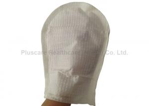 China Non Woven Nursing Disposable Wash Gloves Wet Wipe For Patient Body Cleaning on sale