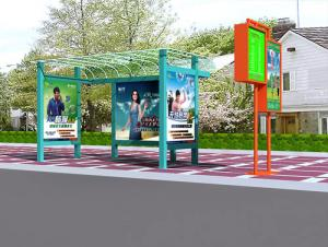 China Portable Front printing backlit film banner bus shelter advertising exhibit booth displays supplier