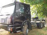 371HP 380HP 420HP 40 のトン HOWO 4X2 6X4 6X6 の頑丈なトラック、トラクターのトラック、ユーロ III の索引車のトラック、赤い野生の黒