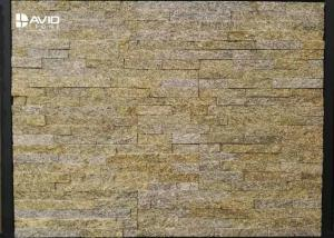 China Tiger Skin Yellow Natural Granite Cultured Stone Panels Weathering Resistance on sale