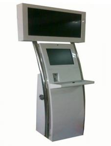 China 55 TFT Dual Screen LCD Digital Signage Kiosk Indoor 480P For Shopping Mails on sale