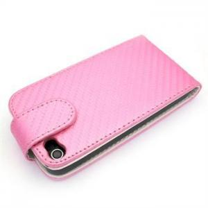China Pink Leather Holster Clip, Cell Phone Faceplate Covers For Apple IPhone 4 on sale