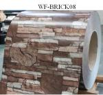 Durable PPGI Prepainted Steel Coil With Brick Patterned For Wall Panel