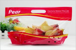 China Heat Seal Transparent Fresh Fruit Bags Packaging Pouch Gravure Printing FDA Standard on sale