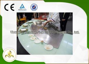 China La parrilla de Teppanyaki del gas de Seat de la verdura nueve de los crustáceos de los pescados, asa a la plancha la parrilla del gas de alto horno on sale