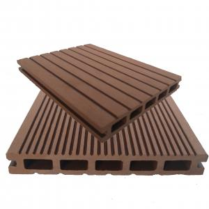 China Anti-corrosion park coffee color decking wood plastic composite manufacturer on sale