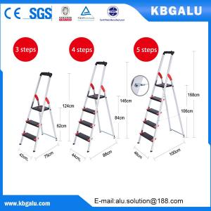 China Multi-purpose high quality folding aluminium ladder with 4 steps on sale