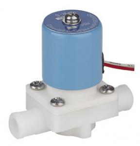 China 24VDC Small PP Electric Solenoid Valve For RO System 1/4 Inch Direct Acting on sale
