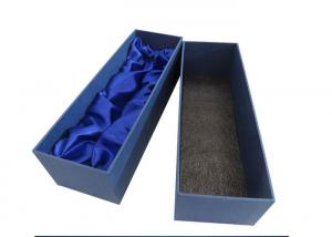 China High End Long Wine Cardboard Boxes , Liquor Bottle Gift Boxes For Wine Glasses on sale