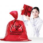 Large Thick 0.02mm 0.1mm Biohazard Plastic Bags For Hospital Waste