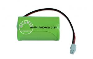 China High Capacity Nimh Rechargeable Battery Pack 3.6v AA 600mah / Camera Lighting on sale