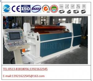 China HOT!MCLW12CNC - 12 * 2000 CNC hydraulic quality four roller plate bending rolls on sale