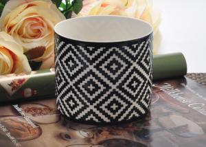 China Fashion black Ceramic Candle Holder , ceramic candlestick holders on sale