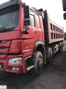China Howo 12 Tyres 8*4 2nd Hand Tipper Trucks With Original Factory Painting on sale