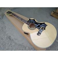 Flame maple custom G200 acoustic guitar Elvis Presley fretboard inlays