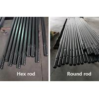 China R32 R38 T38 Round Hex Threaded Drill Rod For Short Hole Drilling / Tunneling on sale