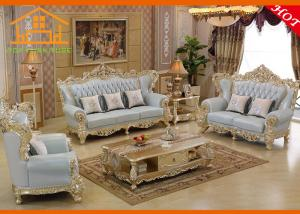 Leather Victorian Style Couch Furniture
