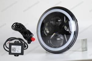 China 4X4 7 inch Jeep LED Headlights High low beam Halo RGB By Phone bluetooth on sale