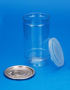 China Food Storage PET Clear Plastic Boxes With Lids EOE / POE Sealing Type 350Ml on sale
