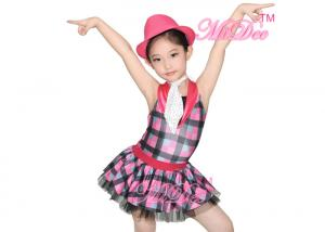Quality CC2891 Tap u0026 Jazz Dress Dance Costume Contrast Collar Checkered Skirt For Girls for ...  sc 1 st  Kids Dance Clothes Ballet Dance Costumes - Everychina & CC2891 Tap u0026 Jazz Dress Dance Costume Contrast Collar Checkered ...