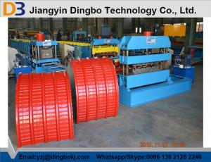 China 0.4-0.8mm Thick Colour Coated Steel Roof Panel Curving Machine on sale