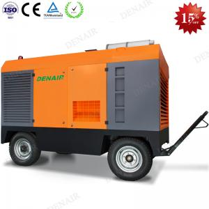 China Two Stage Diesel Portable Screw Air Compressors Machine for Drilling Rig on sale