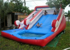 China Customized Funny Large Inflatable Water Slide For Pool , EN14960 on sale