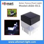 2''x 2'' Inch Square Solar Post Cap Light For Wrought Iron Fencing Front Yard and Backyards Gate Landscaping Residential