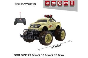 China Multi Color Children's Remote Control Toys Bigfoot RC Jeep 27MHz  Frequency on sale