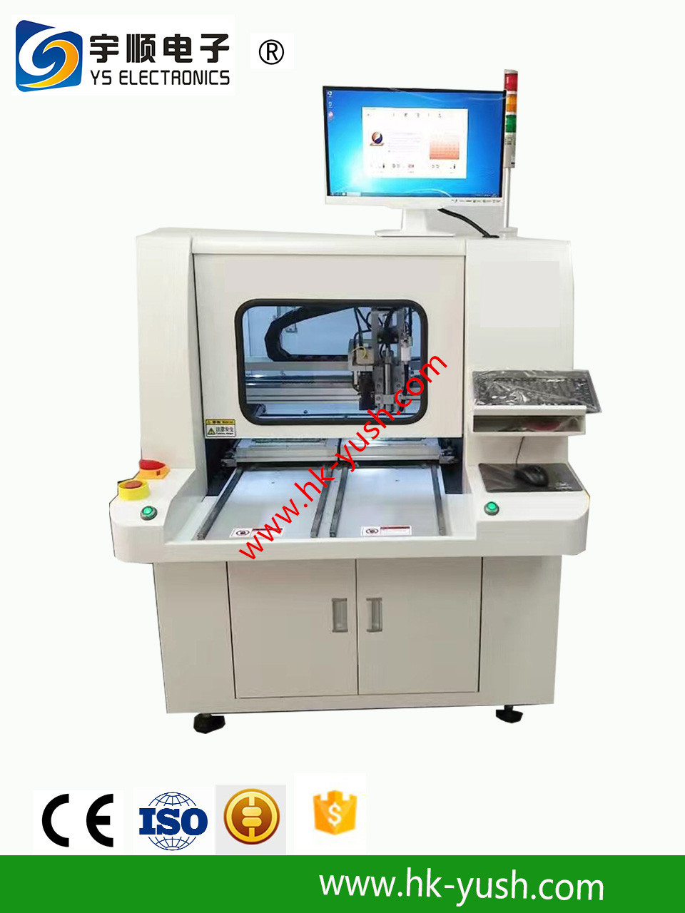 Laser Pcb Depaneling Router Depanelizer Cnc Automatic China V Cut Singulation Machine For Printed Circuit Suitable Small Pieces Of The Final Cutting Base Plate A Mobile Phone Pda Pc Interface Card And So On