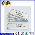 PL392889 3.7V 1300mAh lithium polymer battery