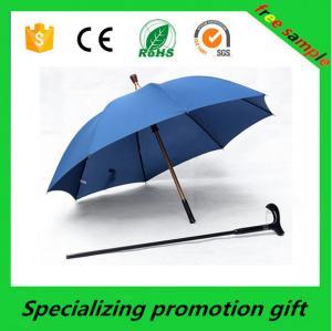China Popular Walking Stick Custom Printed Umbrellas Blue With Digital Printing on sale