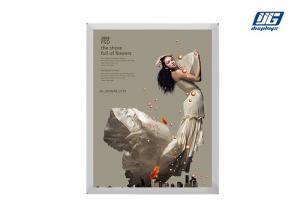 China Wall Mounting Silver Thin Snap Frame Back Lit LGP Panel Light Box on sale