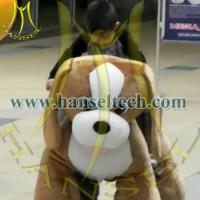 Hansel plush animal electric mall ride on battery operated animal low investment business