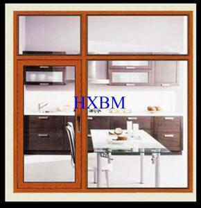China Double Layer Aluminium Windows And Doors For Commercial Buildings Hollow Glass on sale