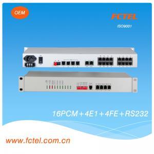 China E1-16Voice+4xFE+4RS232 Multiplexer fiber optical voice Multiplexer on sale