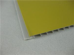 Yellow Laminated PVC Ceiling Panels , Heat Insulation PVC
