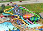 Combination Pool Fiberglass Water Slide Indoor Outdoor Park Equipment
