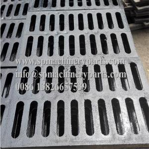 China Lightweight and easy install 9/16 inch x 6 1/8 inch Height 3/4channeld grate (ductile iron) black for sale on sale