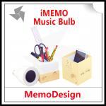 Presidente original de Bluetooth del bulbo de la música del iMemo + envío gratis prístino cambiable combinado del reproductor de audio del MP3 de la CAJA de sonidos del LED LED
