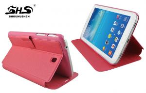 China Samsung Galaxy Tab Leather Case Stand Design Pink Tablet PC Cover on sale