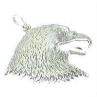 China Custom unique Non toxic Vintage Eagles head Tibetan 925 Sterling Silver Pendants for decoration on sale