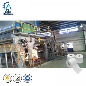 China 2100mm Raw Material Wast Paper Wood Pulp Tissue Paper Manufacturing Plant Toilet Paper Machine on sale